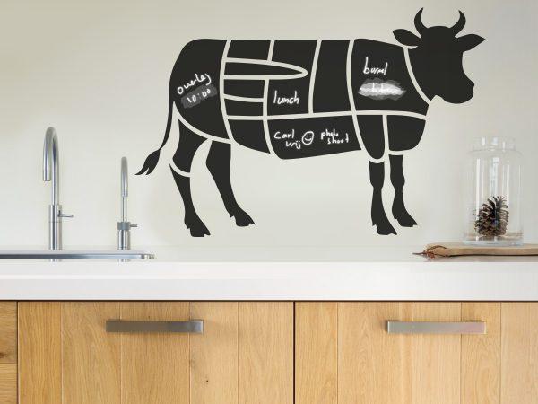 Krijtbordsticker 'Slagers koe'