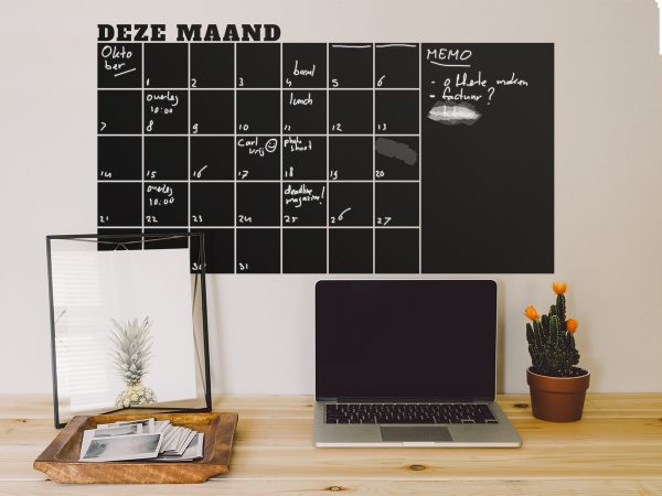 Krijtbordsticker 'Maandplanner'